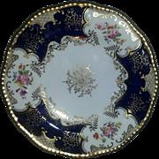 "Set of Four Coalport Blue Batwing Plates, 9"" diameter"