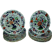 A 19th Century Set of 12 Plates by Stevenson Sharp & Co Derby