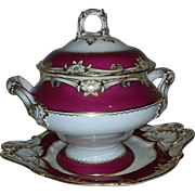 A large 19th Century English Soup Tureen and Stand