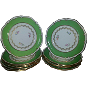 A Set of Eleven Davenport Dinner Plates