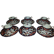 Set of Six Davenport Bone China Trios in the Kings Pattern