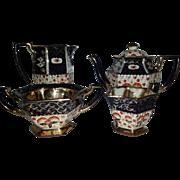 Late 19th Century Redware Part Tea Service