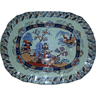 A Mason's Ironstone Tree and Well Platter