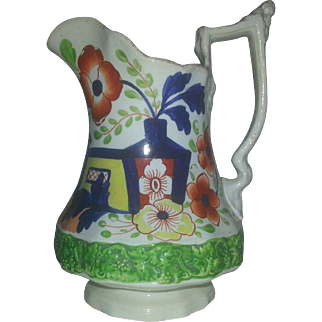 A Early 19th Century Staffordshire Gaudy Ironstone Jug