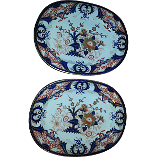 A Pair of Bloor-Derby Platters in the King's Pattern