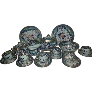 A 19th Century Porcelain Part Tea Set by Newhall
