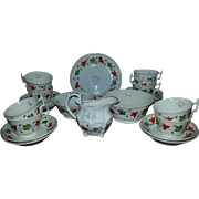 A 19th Century Staffordshire Part Tea Service by Hilditch
