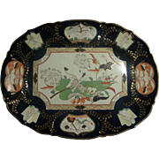 "Mason's Ironstone 22""  Tree and Well Platter in the Trophies Pattern"
