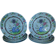 "A Set of Eight Spode Stone China 7"" Diameter Plates"