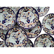 "Twelve Mason's Patent Ironstone China  9.25"" Plates"