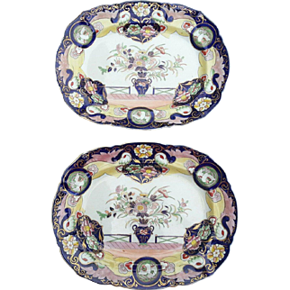 "A Pair of Mason's Patent Ironstone China  15 1/2"" Platters"