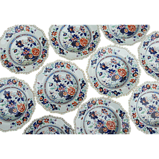 "A Set of Twelve Hicks & Meigh 'Stone China' 9"" Plates"
