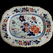 "A Hicks & Meigh 'Stone China' 21"" Platter, Pattern 53"
