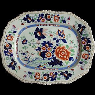 "A Hicks & Meigh 'Stone China' 18.75"" Platter, Pattern 53"