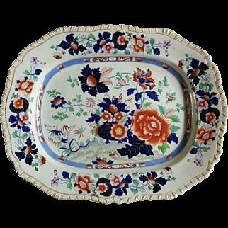 "A Hicks & Meigh 'Stone China' 17"" Platter, Pattern 53"