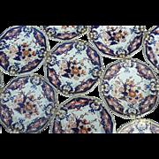 Twelve Bloor Derby King's Pattern Dinner Plates