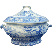 A Minton Italian Ruins Pattern Soup Tureen and Cover