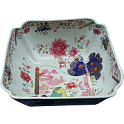A Spode Stone China rectangular fruit bowl in a rare Chinoiserie Pattern