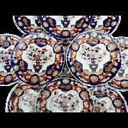 Twelve Mason's Ironstone Dinner Plates, 19th Century