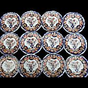 Twelve Mason's Ironstone Side Plates, 19th Century