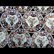 Ten Mason's Ironstone Soup Plates, 19th Century