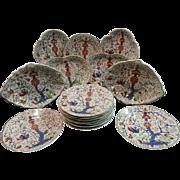A 19thC Bloor Derby Porcelain Dessert Service