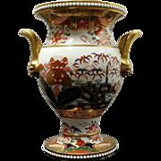 A Spode Imari Pattern Twin Handled Vase