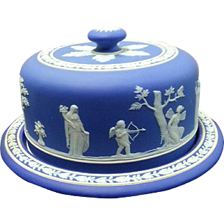 Wedgwood Jasperware Cheese Dish and Cover