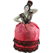 Pincushion, Spanish Dancer China Half-Doll, Dressed.