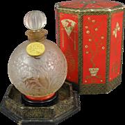 Coty A'Suma Perfume Bottle, Original Presentation Box, C.1934.
