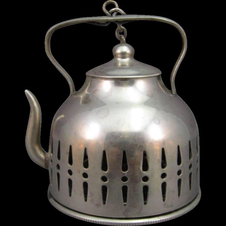 tea ball infuser figural tea kettle from jggallery on ruby lane. Black Bedroom Furniture Sets. Home Design Ideas