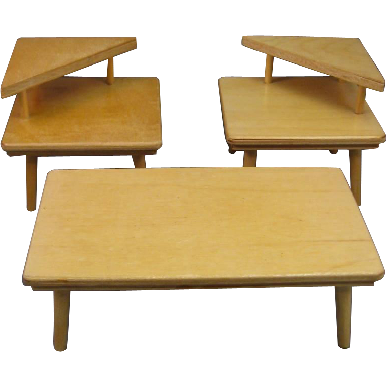 Doll Furniture By Strombecker, Wooden 1950s Style For 8u201d Ginny Dolls.