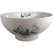 Copeland Spode Fine Stone Serving Bowl, Hand Painted Chinoiserie.
