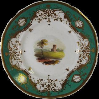 7 Antique Porcelain Butter Pat, Cup Plates Hand Painted England C.1830.