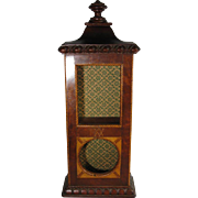 Antique Wood Parquetry Pocket Watch Display Stand, C.1890-1910.