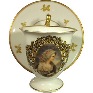 Rosenthal Hand Painted Portrait Cup & Saucer, C.1922.