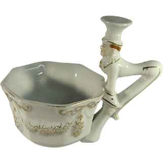 Deco Whimsical Butler Porcelain Tea Cup, C.1930s.