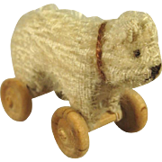 Tiny Bear on Wheels for Doll, Doll House Display