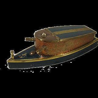 Navy Motor Gun Boat Cigarette Box Dispenser, C. 1940.