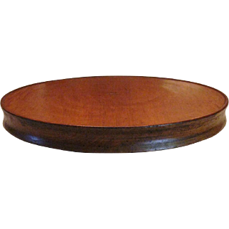 Antique Country Primitive Cherry Wood Lazy Susan.