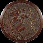 Bourjois Bakelite Powder Box, Lilium C.1936.
