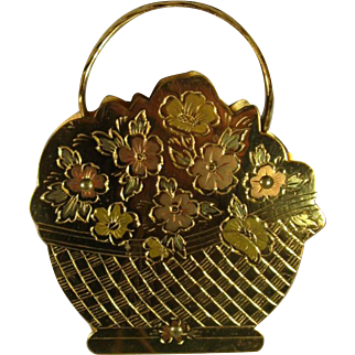 Zell Basket Compact, New Unused, C.1940s.