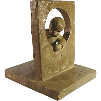 Haeger Pottery Child Sculpture, M. Strubel.