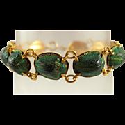 Egyptian Revival Victorian 18K Gold Scarab Beetle Bracelet