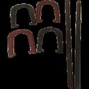 Vintage Sure Ringer Horseshoes Horse Shoe Game Cast Iron