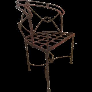Antique Victorian Wrought Iron Garden Patio Chair Frame 4 available