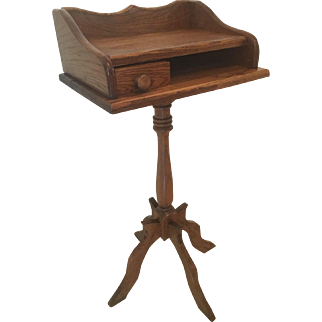 Unique Oak Vintage Telephone Stand / Table one drawer night table
