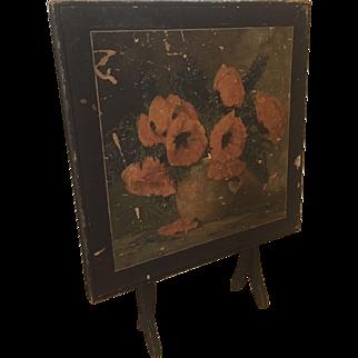 Vintage wood folding card Bridge Gaming table Fireplace Screen