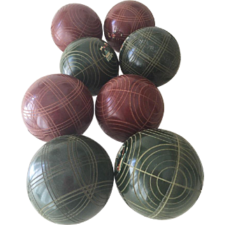 Vintage Sportcraft Bocce Balls Made in Italy 8 Balls