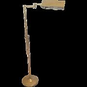 "Eames Era ALSY Brass Floor Lamp Adjustable 32"" up to 50"" Mid-century Modern USA"